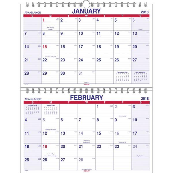 At-A-Glance 2-Month Vertical Wall Calendar