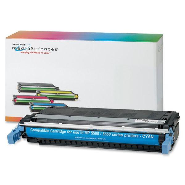 Media Sciences Remanufactured HP 645A Cyan Toner Cartridge