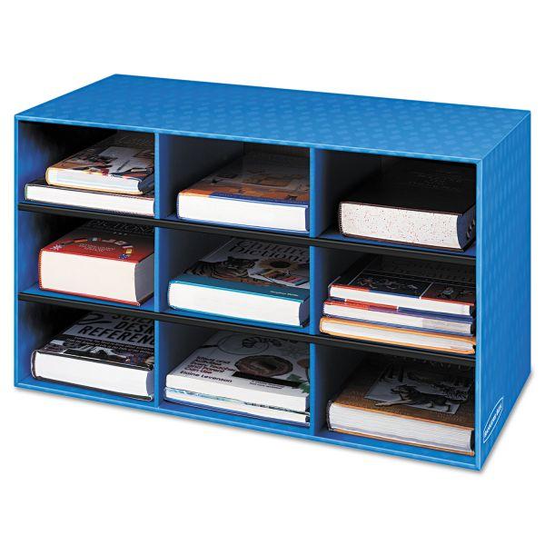 Fellowes Classroom Literature Sorter, 9 Compartments, 28 1/4 x 13 x 16, Blue