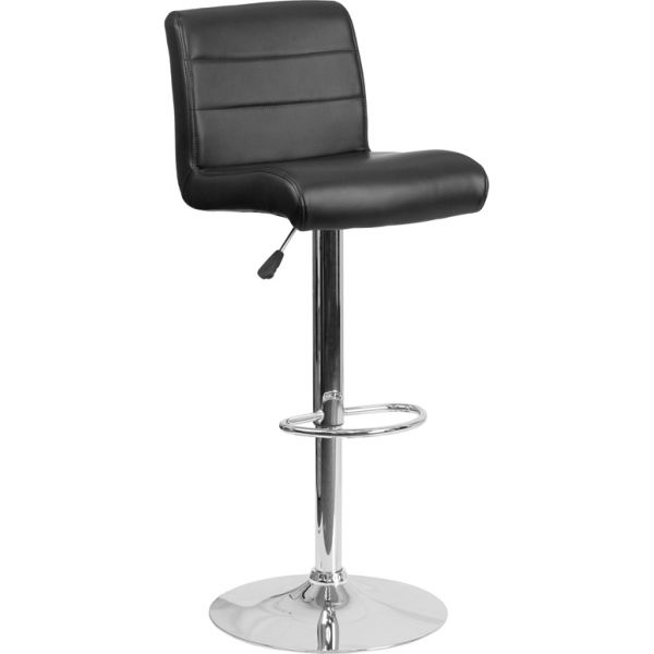 Flash Furniture Contemporary Adjustable Height Barstool with Chrome Base