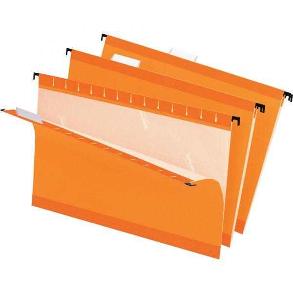 Pendaflex Reinforced Hanging Folders, 1/5 Tab, Legal, Orange, 25/Box