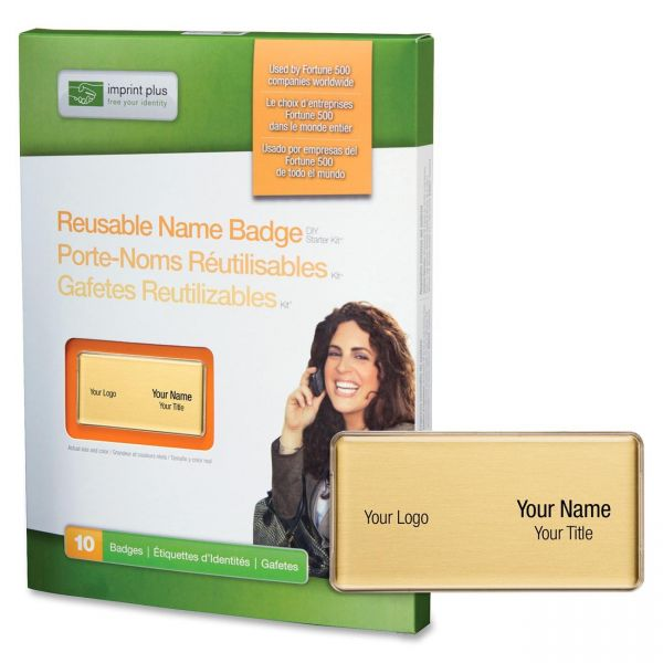 Mighty Badge Reusable Magnetic Name Badge System