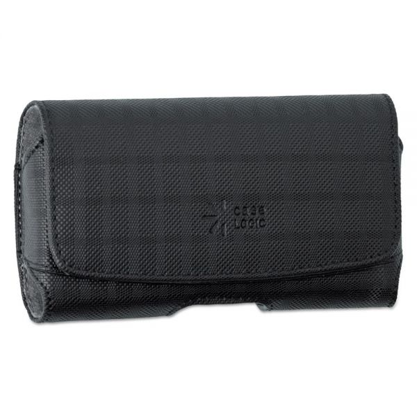 Case Logic Horizontal Pouch for Belt, Plaid Design, Black