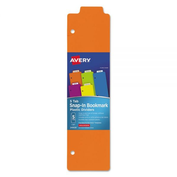 Avery Tabbed Snap-In Bookmark Plastic Dividers