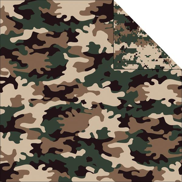 "Camouflaged Double-Sided Cardstock 12""X12"""