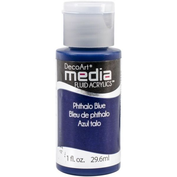 Deco Art Media Phthalo Blue Fluid Acrylics