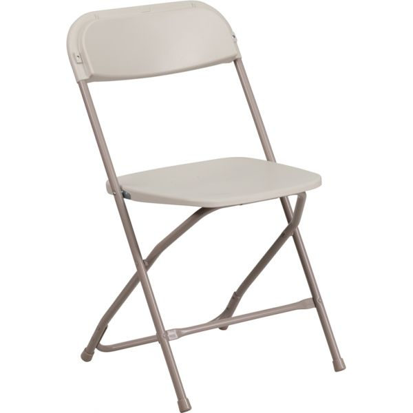 Flash Furniture HERCULES Series 800 lb. Capacity Premium Beige Plastic Folding Chair