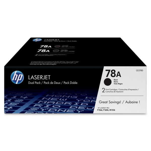 HP 78A Black Toner Cartridges (CE278D)