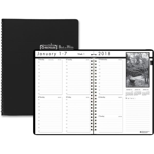 House of Doolittle Black on White Weekly Appointment Book