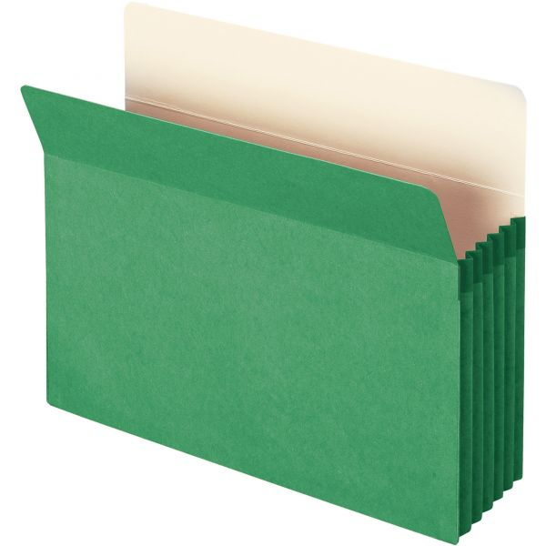 Smead 73226 Green Colored Expanding File Pocket