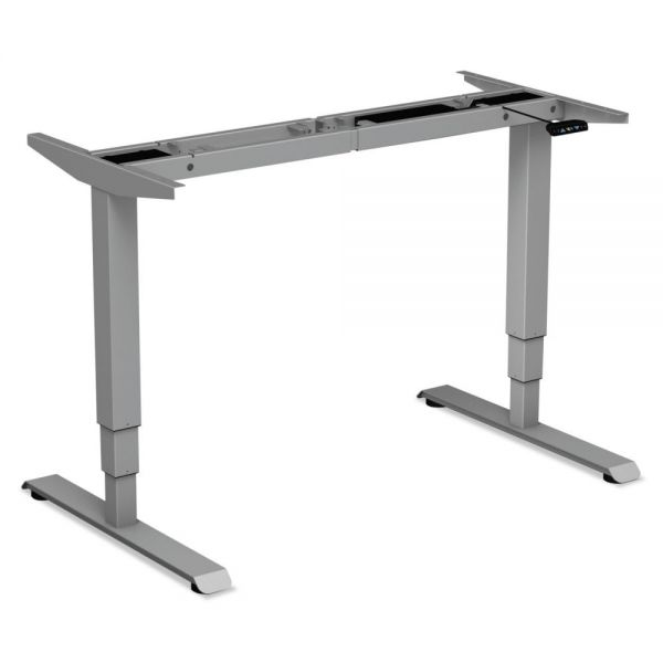 "Alera 3-Stage Electric Adjustable Table Base w/Memory Controls, 25"" to 50 3/4""H, Gray"