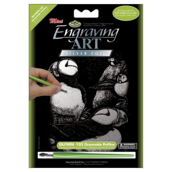 Mini Silver Foil Engraving Art Kit