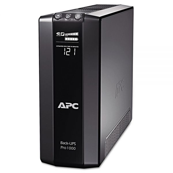 APC BR1000G Back-UPS Pro 1000 Battery Backup System, 8 Outlets, 1000 VA, 355 J