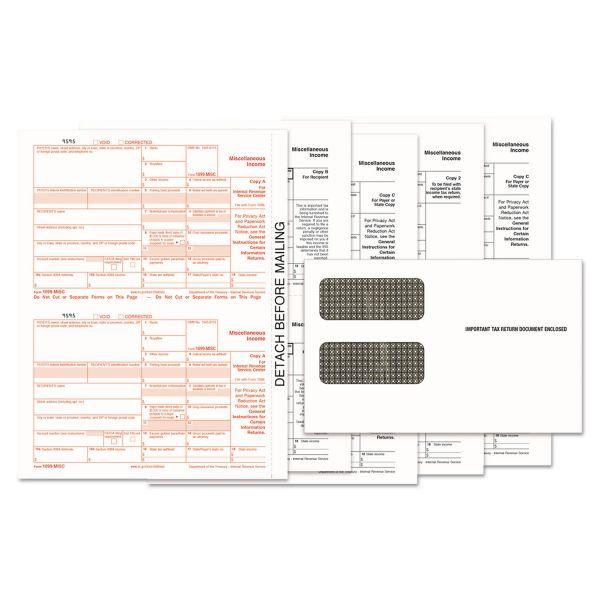 TOPS 1099-MISC Tax Form Kits, 8 x 5 1/2, 5-Part, Inkjet/Laser, 24 1099s & 1 1096