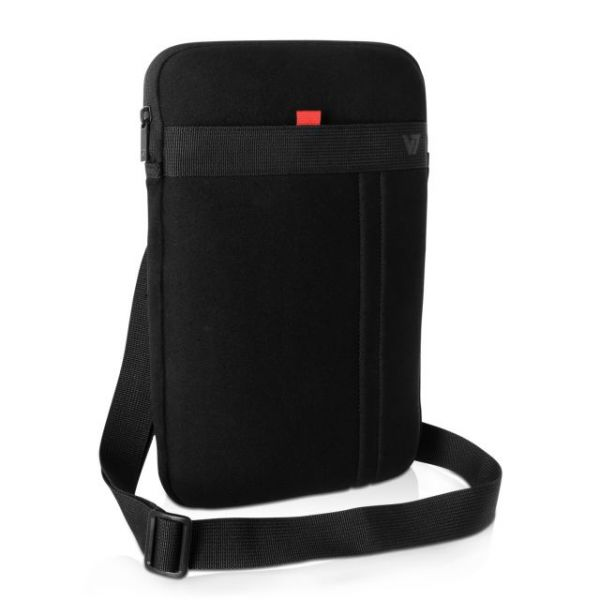 """V7 CSS12BLK-1N Carrying Case (Sleeve) for 12.2"""" Ultrabook, Tablet, Notebook, iPad, iPad Air, MacBook Air, Accessories - Black, Red"""