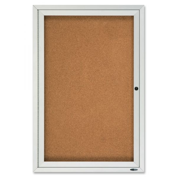 Quartet Enclosed Cork Bulletin Board for Outdoor Use
