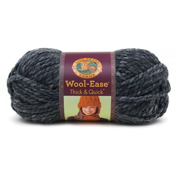 Lion Brand Wool-Ease Thick & Quick Yarn - Granite Print