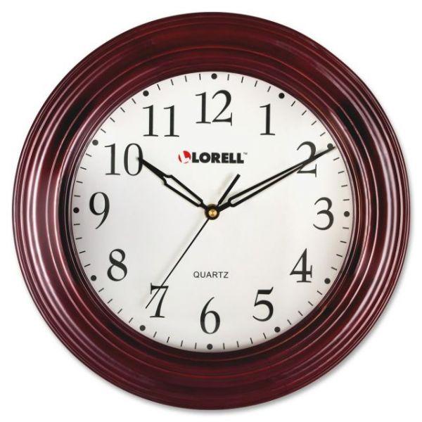 Lorell Mahogany Wall Clock