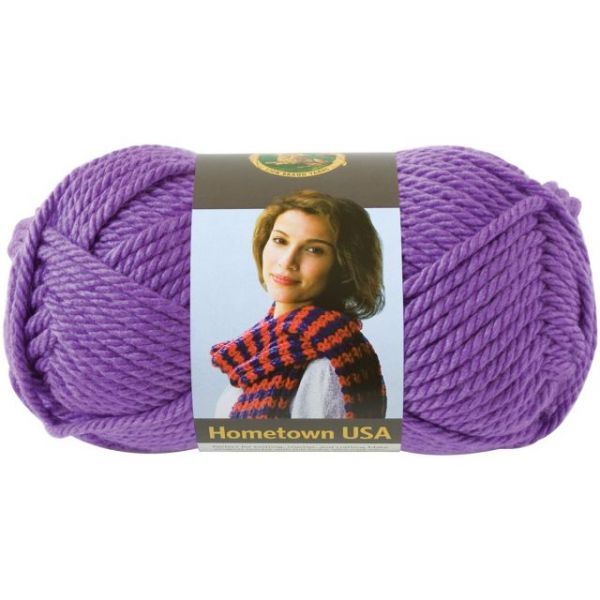 Lion Brand Hometown USA Yarn - Minneapolis Purple