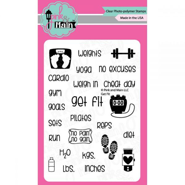 "Pink & Main Clear Stamps 3""X4"""