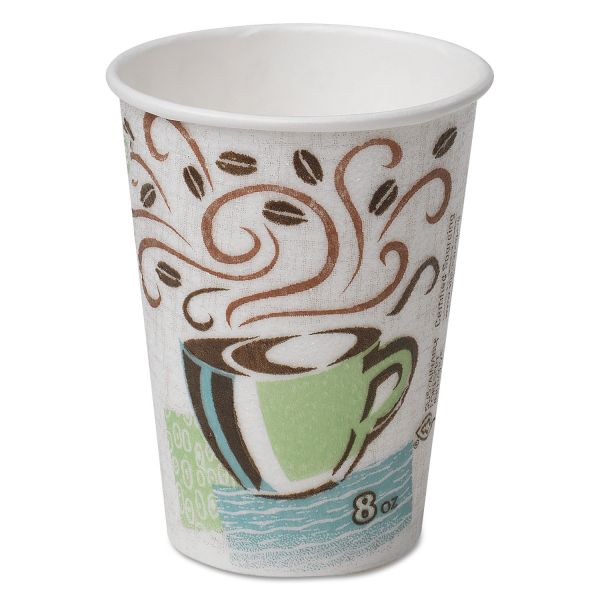 Dixie PerfecTouch Hot Cups, 8oz, Coffee Dreams, Individually Wrapped, 50/Bag, 20/CT