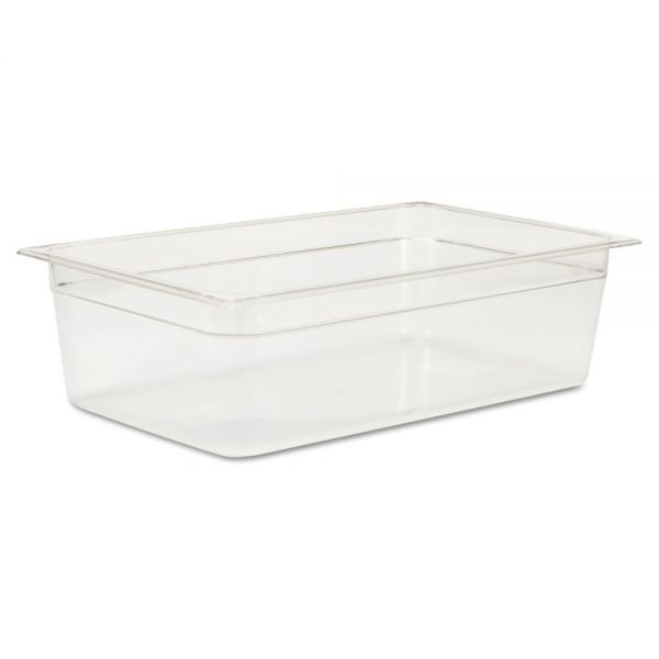 Rubbermaid Commercial Cold Food Pans, 20 5/8qt, 20 4/5w x 12 4/5d x 6h, Clear