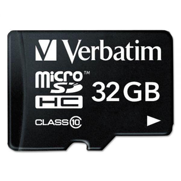 Verbatim 32 GB microSDHC Memory Card w/Adapter