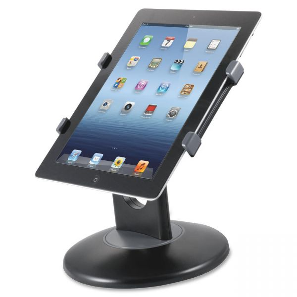 "Kantek Stand for 7"" to 10"" Tablets, Swivel Base, Plastic, Black"