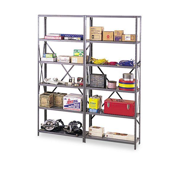 """Tennsco Industrial Post Kit, for 36"""" & 48"""" Wide Shelves, Medium Gray"""