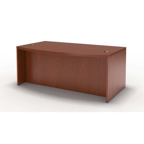 Tiffany Industries Aberdeen Bow Front Desk Shell, 72w x 42d x 29-1/2h, Cherry