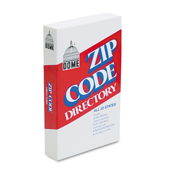 Dome Zip Code Directory, Paperback, 750 Pages