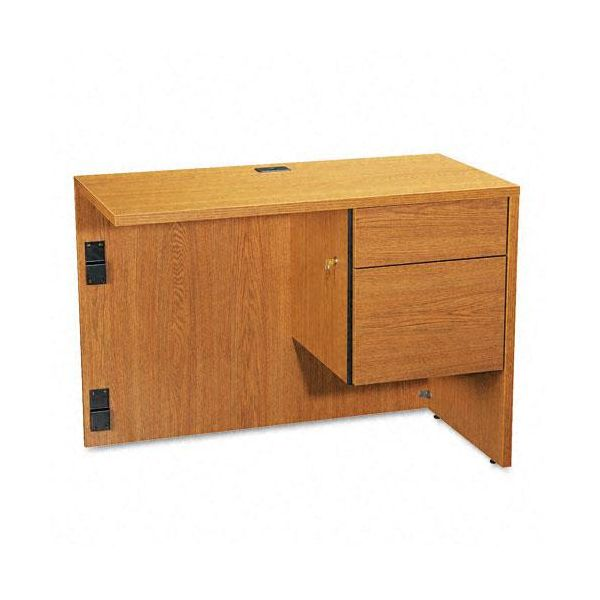 "Global Genoa ""L"" Workstation Return, Right, 40w x 20d x 29h, Oak"