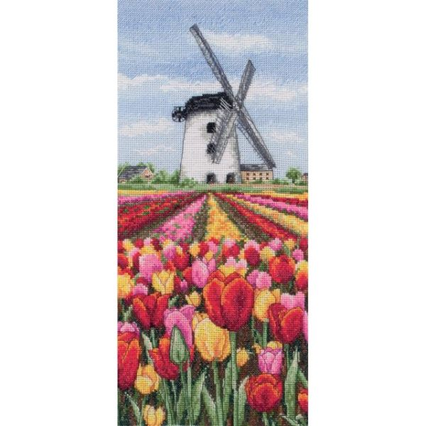 Dutch Tulips Landscape Counted Cross Stitch Kit