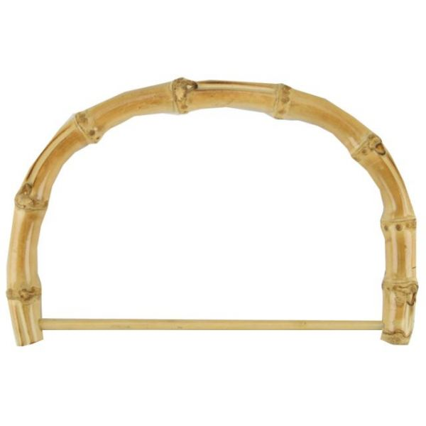 "Bamboo Bag Handle 7"" Half Round W/Rod"