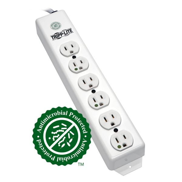 Tripp Lite Power Strip Hospital Medical 120V 5-15R-HG 6 Outlet 1.5' Cord Metal