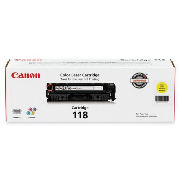 Canon 118 Yellow Toner Cartridge (CRTDG118-YW)