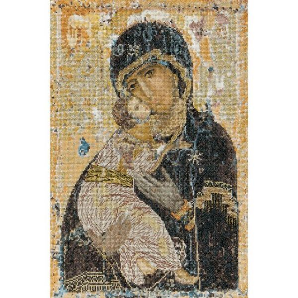 Our Lady Of Vladmir On Aida Counted Cross Stitch Kit