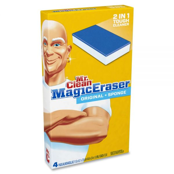 "Mr. Clean Magic Eraser Duo, 4.6 x 2.4, 1"" Thick, White/Blue"