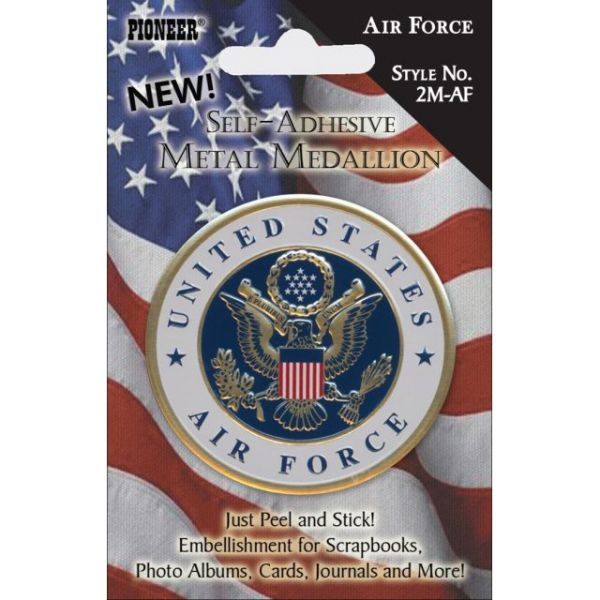 Military Self-Adhesive Metal Medallion 2""