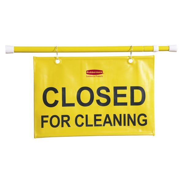 "Rubbermaid ""Closed for Cleaning"" Safety Hanging Sign"