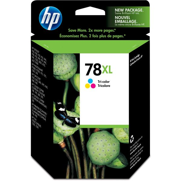 HP 78XL Tri-Color High Yield Ink Cartridge (C6578AN)