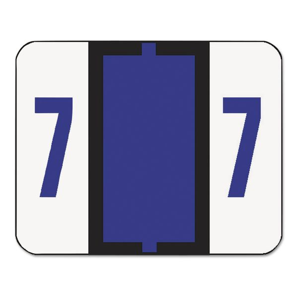 Smead BCCRN Bar-Style Color-Coded Numeric Label - 7