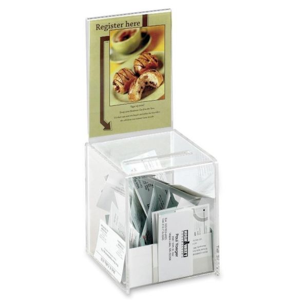 Safco Acrylic Collection Box