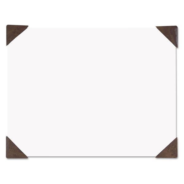 House of Doolittle 100% Recycled Doodle Desk Pad, Unruled, 50 Sheets, Refillable, 22 x 17, Brown