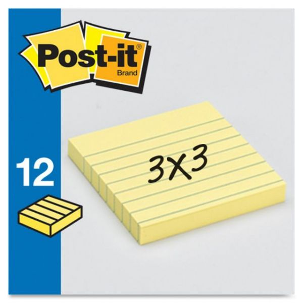 "Post-it 3"" x 3"" Ruled/Lined Notes"