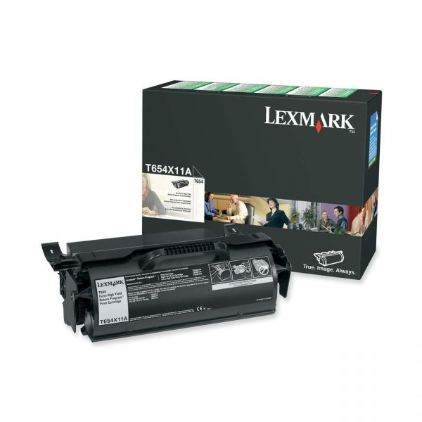 Lexmark T654X11A Black Extra High Yield Return Program Toner Cartridge