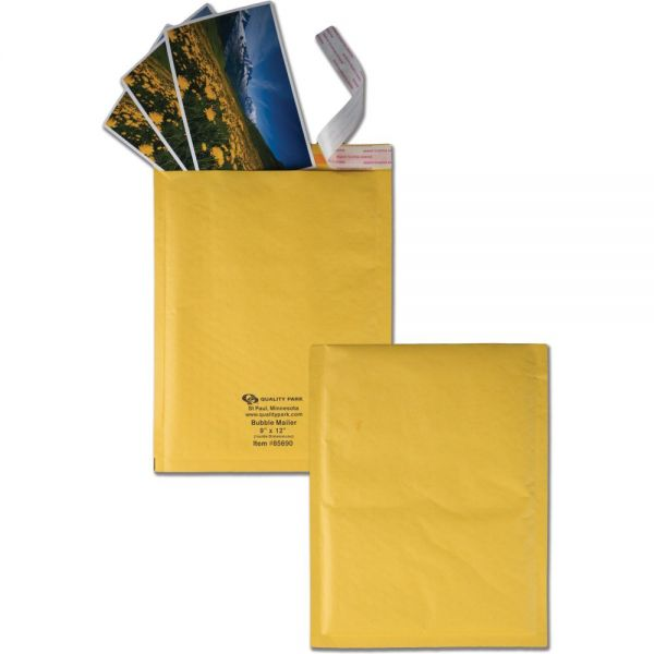 Quality Park Redi-Strip Bubble Mailers w/Labels