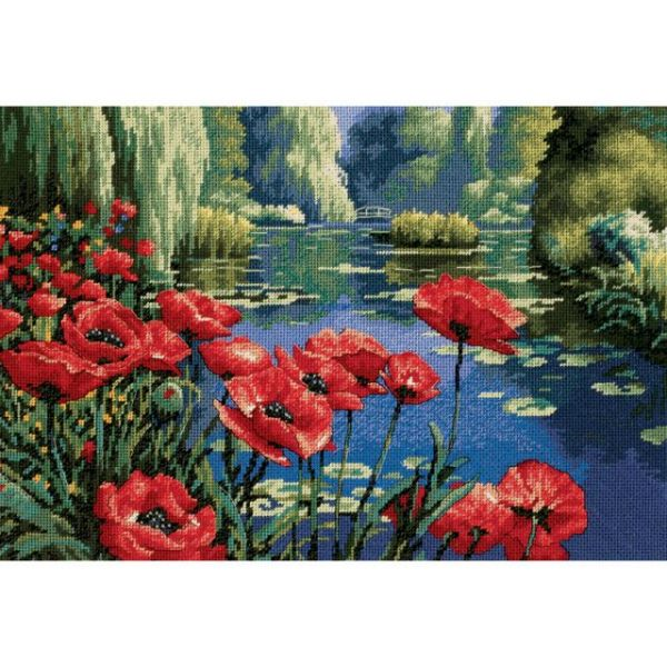 Lakeside Poppies Needlepoint Kit