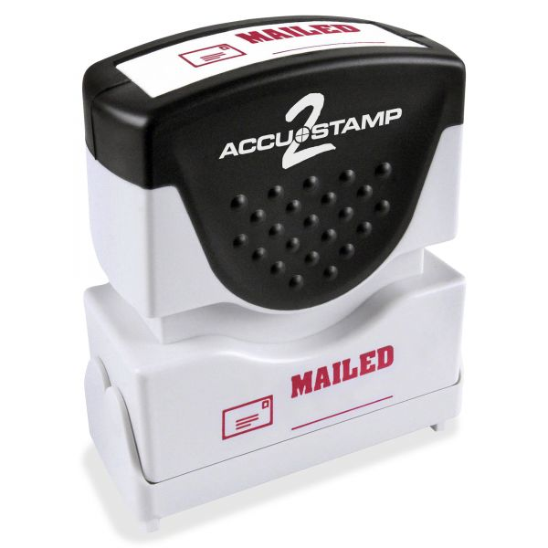 ACCUSTAMP2 Pre-Inked Shutter Stamp, Red, MAILED, 1 5/8 x 1/2