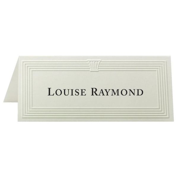 First Base Overtures Embossed Laser Print Tent Card